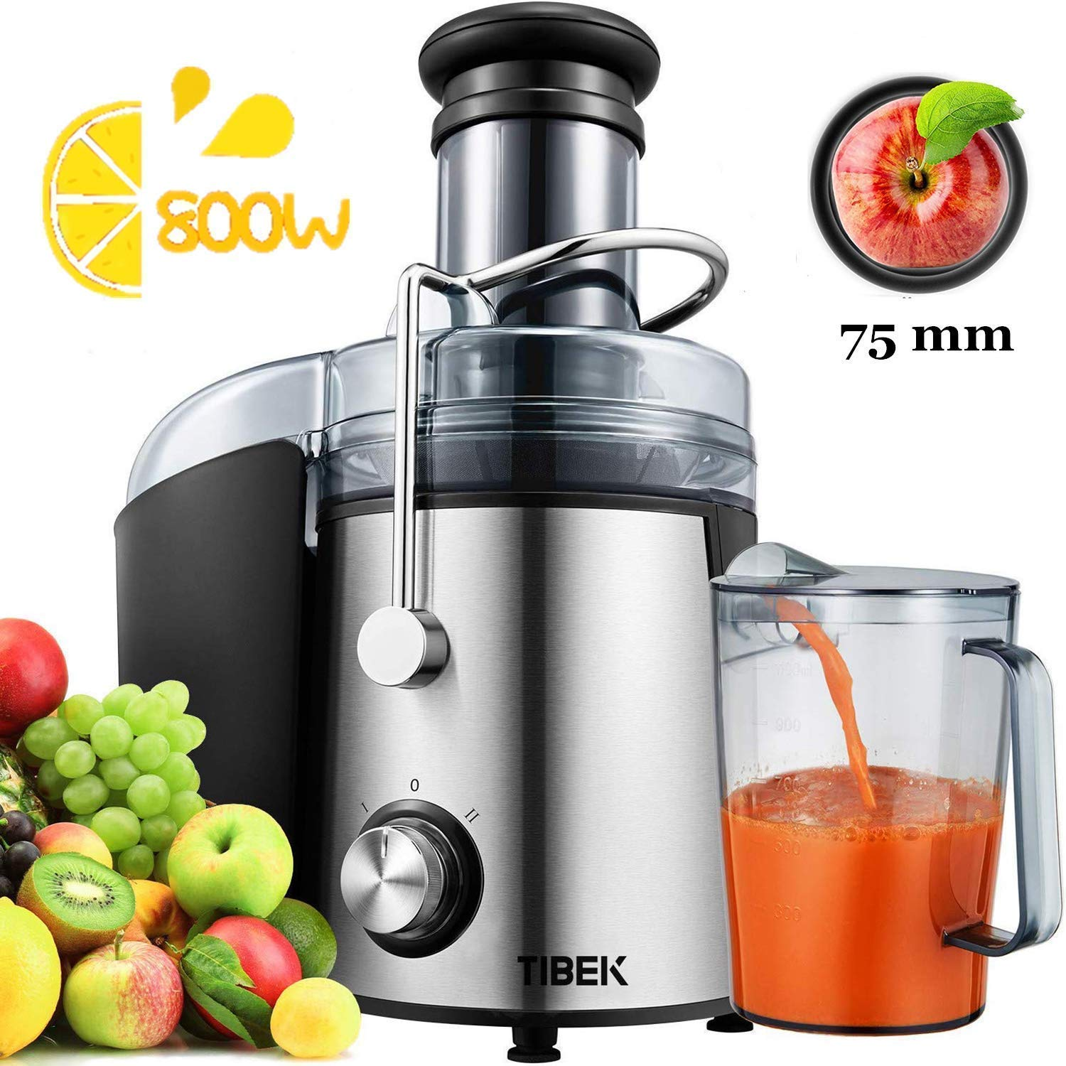 Aicok centrifugal juicer 2 Speed for fruits and vegetables