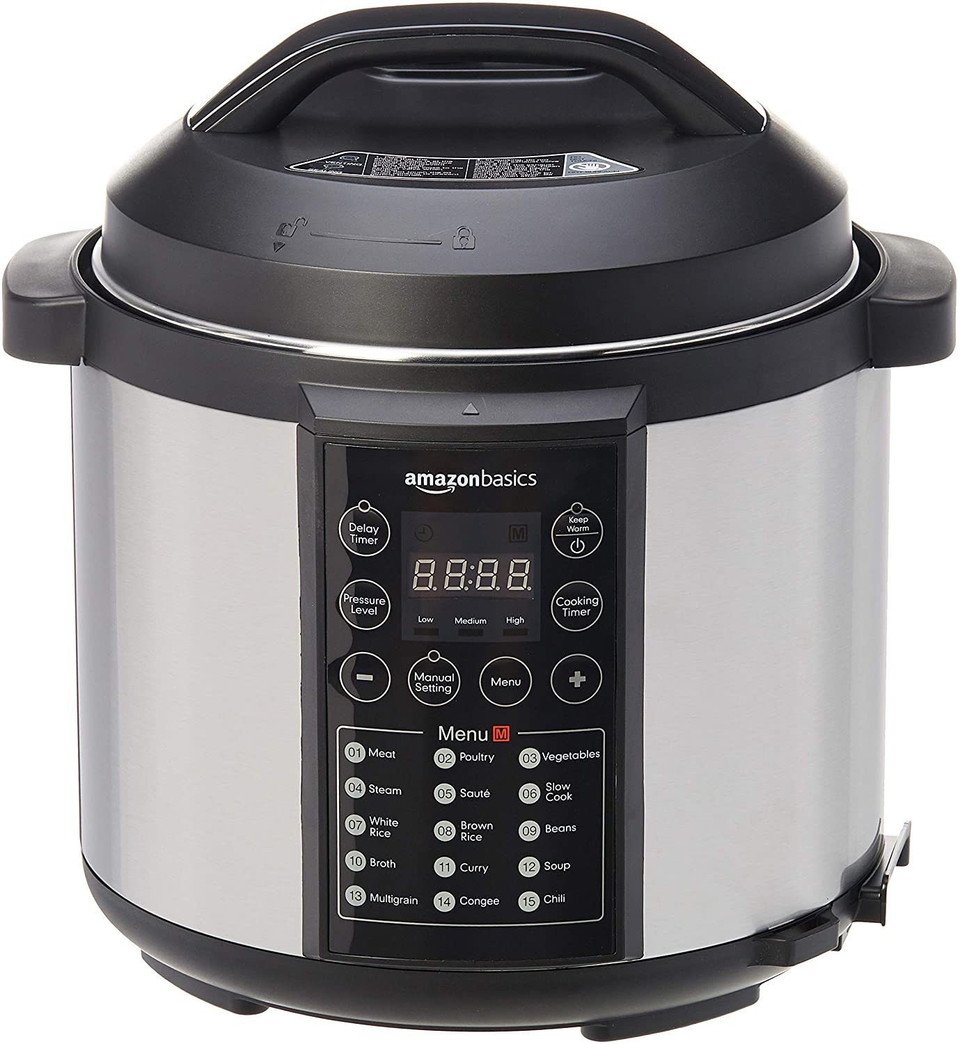 Amazon Basics Electric Pressure Cooker, 6.0 L - 1000 W - Outlet Product