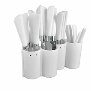 Carla Cutlery with Standpieces, Stainless Steel - 24 pieces