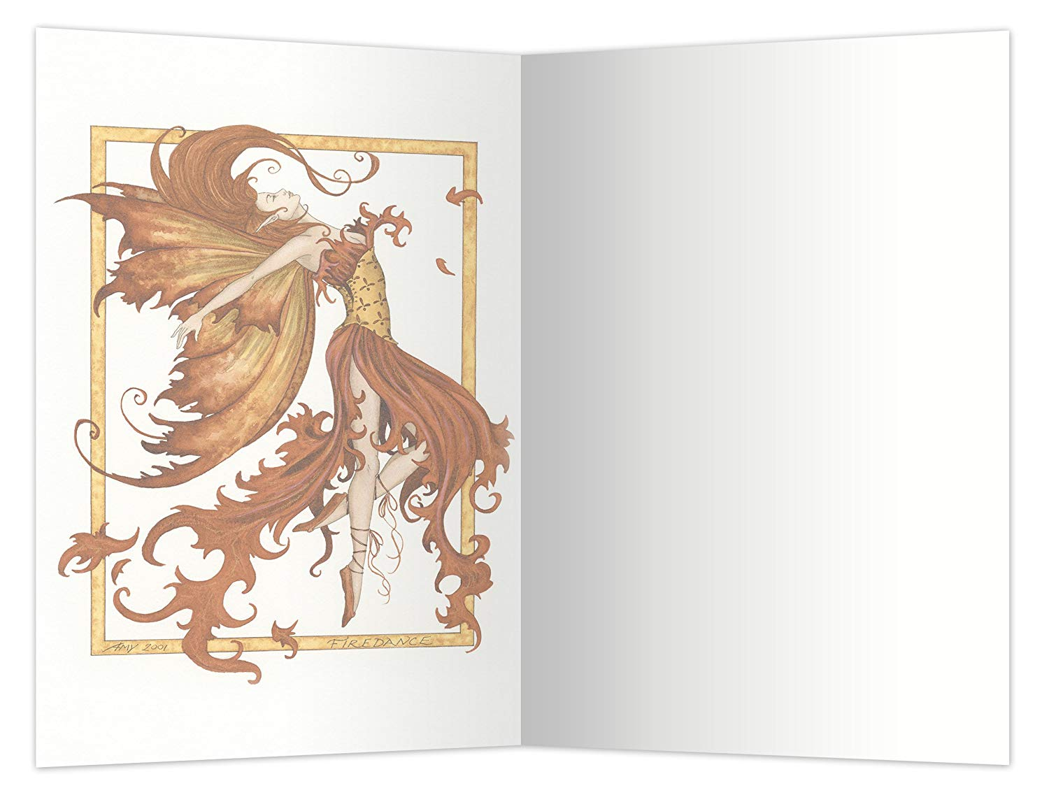 Econotes notecard set with envelopes Fire Dance Fairy