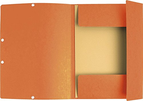 Exacompta Flap Elasticated Binder - Glossy Orange