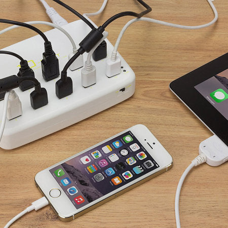 Kit 10 Port USB Charging Station - 12 Amps