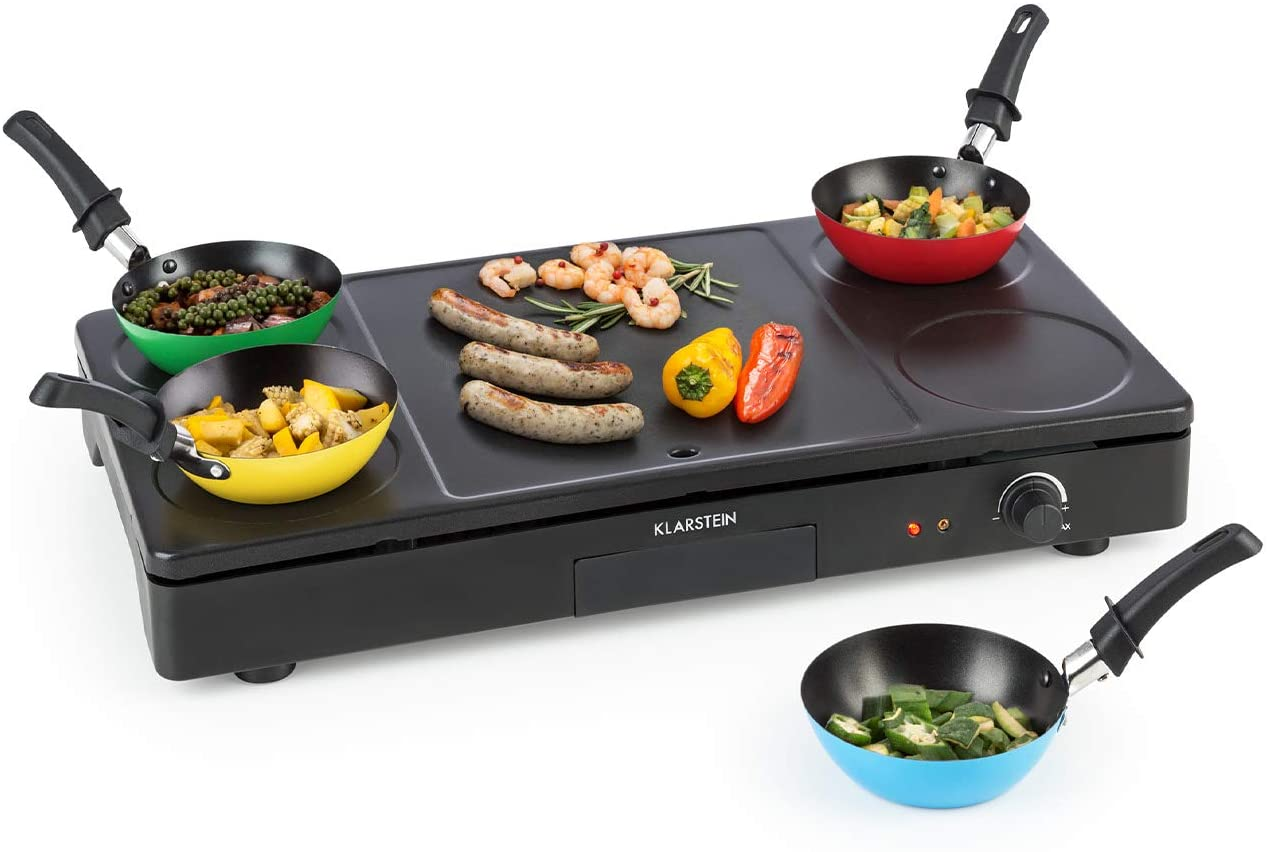 Klarstein Party Tischgrill 3-in-1 1000W