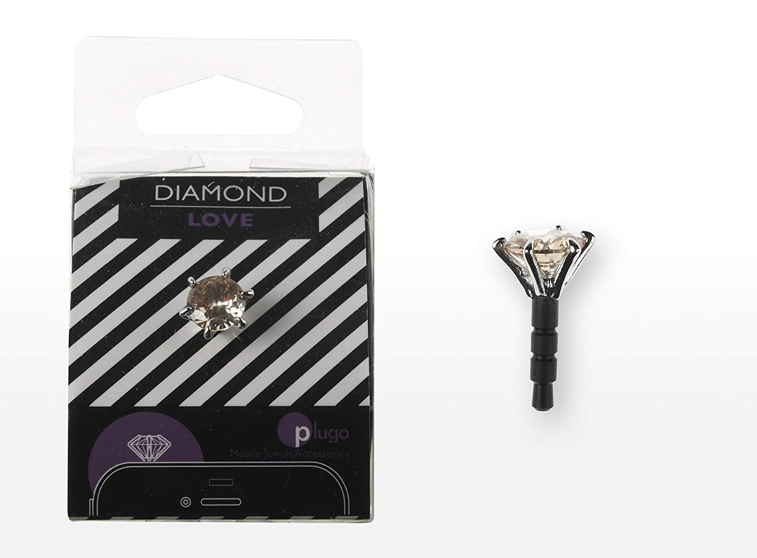 Accessory for portable devices Plugo Diamond Gold