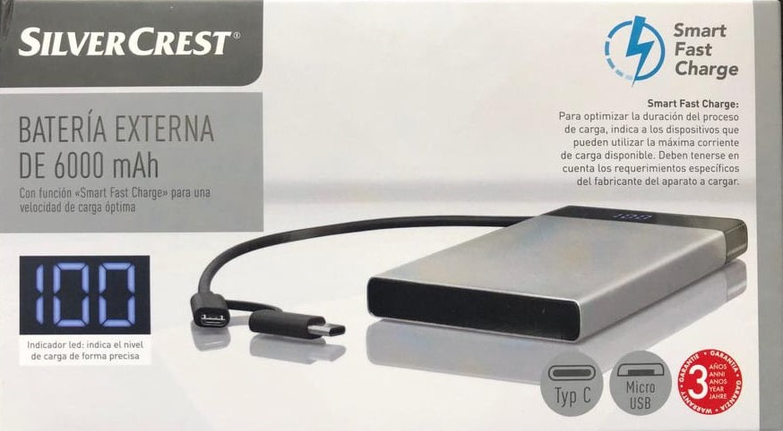 Silvercrest Powerbanks Batterien 6000 mAh