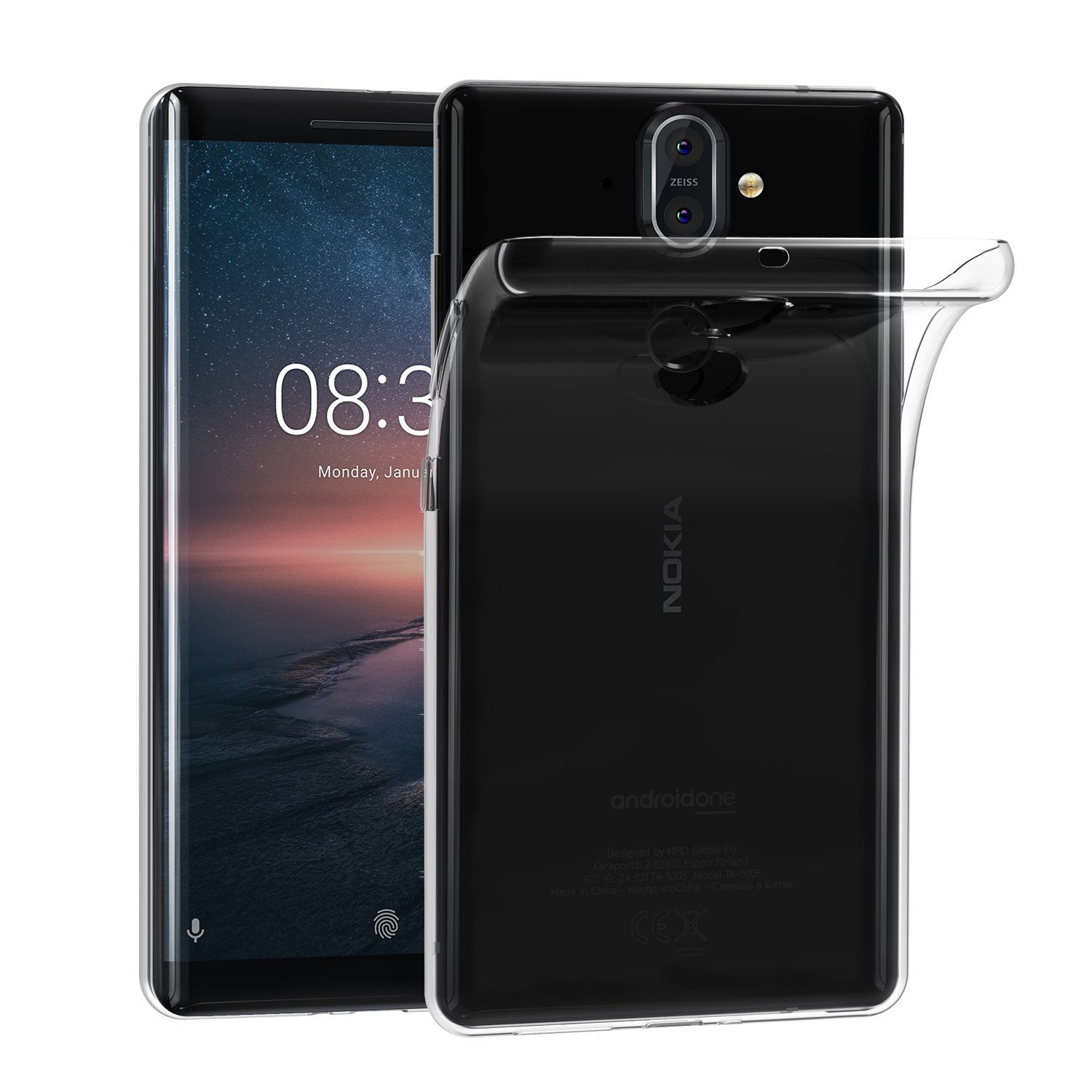 Silicone Case Nokia 8 - Transparent