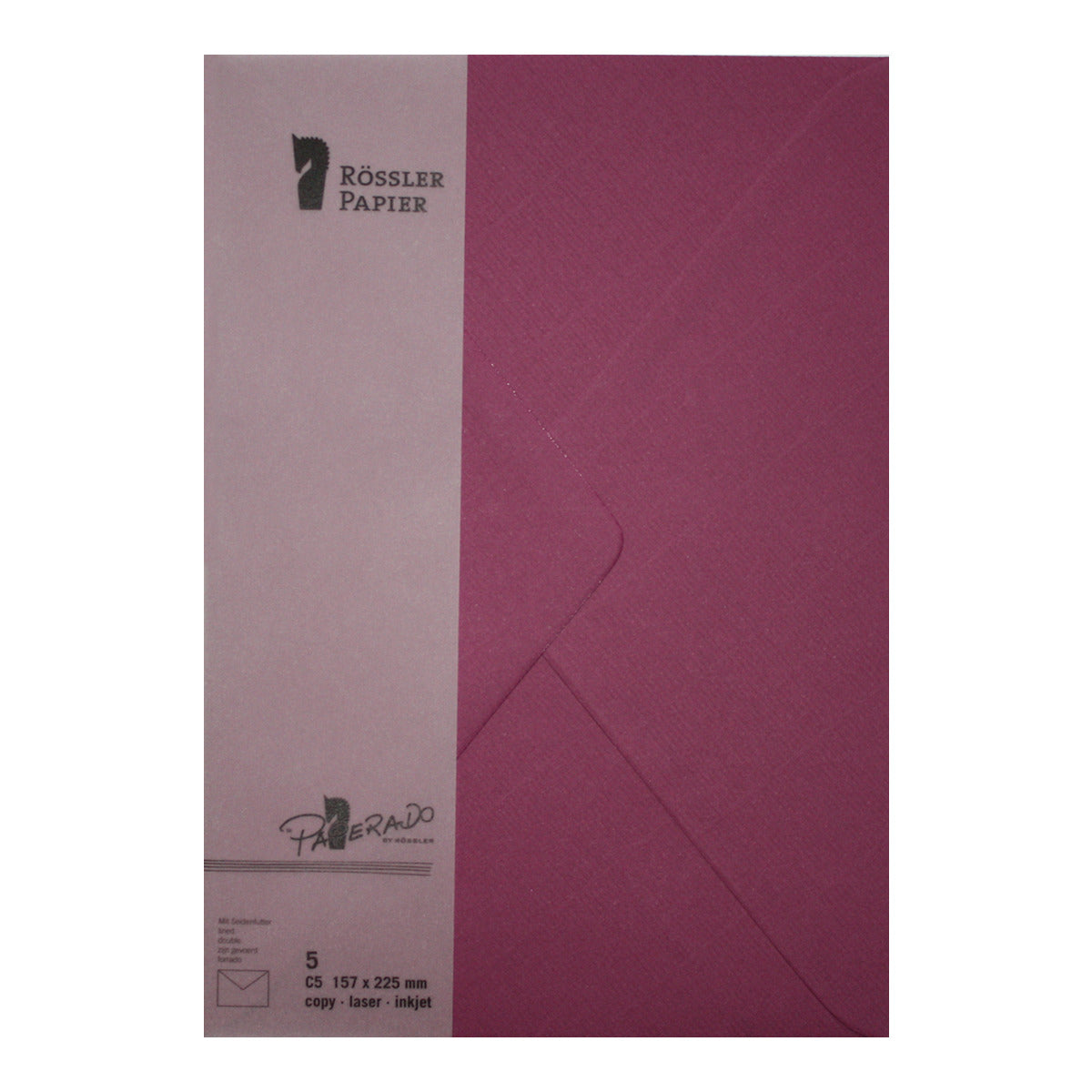 Envelope with Purple Lined Interior - ROSSLER