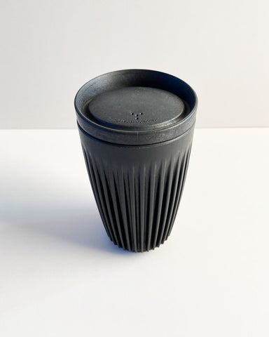 HuskeeCup (Black) + Lid | 12oz