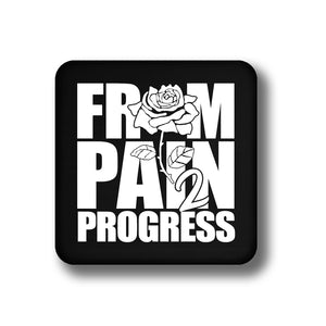 FP2P Laminated Coaster (other colors available) - FromPain2Progress.Com