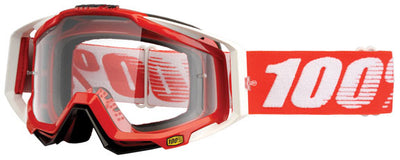 100% 100% Racecraft Goggles - 50100-003-02 - RaceCraft Goggle, Fire Red (Clear)