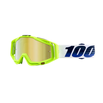 100% 100% Racecraft Goggles - 50110-247-02 - RaceCraft Goggle, GP21 (Mirror Gold)