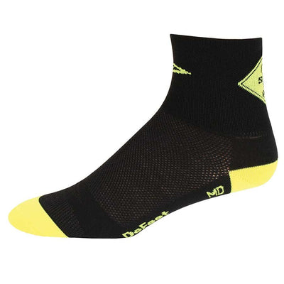 "DeFeet DeFeet Aireator 2-3""Cuff Socks - M / Share The Road"