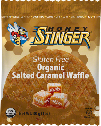 Honey Stinger Honey Stinger Gluten Free Organic Waffle Box of 16 - Salted Caramel