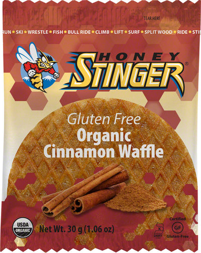 Honey Stinger Honey Stinger Gluten Free Organic Waffle Box of 16 - Cinnamon