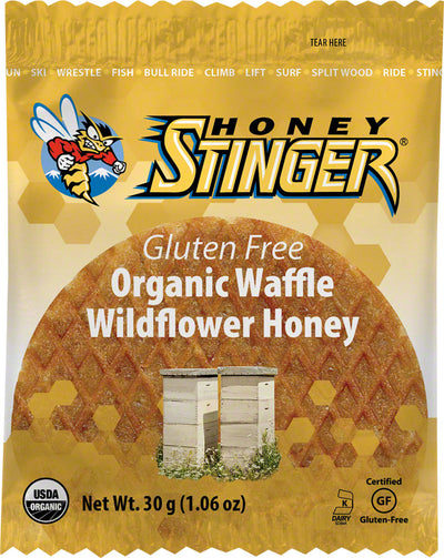 Honey Stinger Honey Stinger Gluten Free Organic Waffle Box of 16 - Wildflower Honey