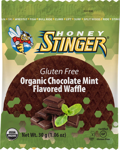 Honey Stinger Honey Stinger Gluten Free Organic Waffle Box of 16 - Mint Chocolate