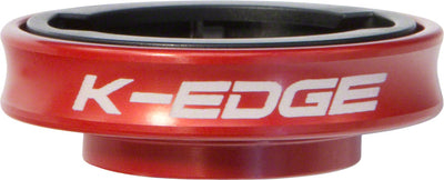 K-Edge K-Edge Gravity Stem Cap Mount Garmin - Red
