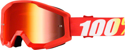 100% 100% Strata Goggles - Adult / Furnace with Mirror Red Lens