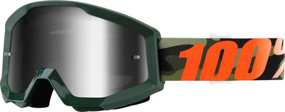 100% 100% Strata Goggles - Adult / Huntsitan with Mirror Silver Lens