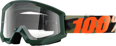 100% 100% Strata Goggles - Adult / Huntsitan with Clear Lens