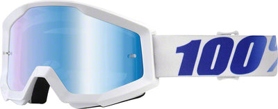 100% 100% Strata Goggles - Adult / Equinox with Mirror Blue Lens