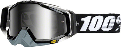 100% 100% Racecraft Goggles - Abyss Black with Mirror Silver Lens