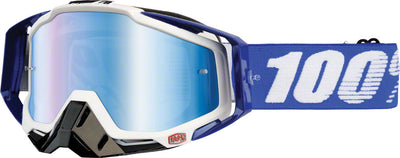 100% 100% Racecraft Goggles - Cobalt Blue with Mirror Blue Lens
