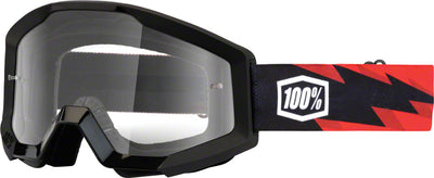 100% 100% Strata Goggles - Adult / Slash with Clear Lens