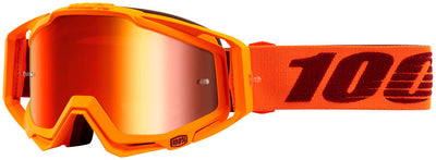 100% 100% Racecraft Goggles - Mernio with Mirror Red Lens