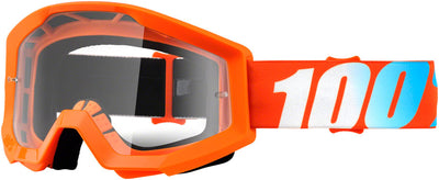 100% 100% Strata Goggles - Adult / Orange with Clear Lens