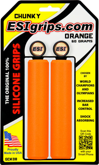 ESI ESI Chunky 32mm Silicone Grips - Orange