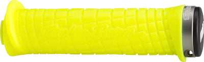 ODI ODI Troy Lee Lock-On Grips - Bright Yellow with Gray Clamps