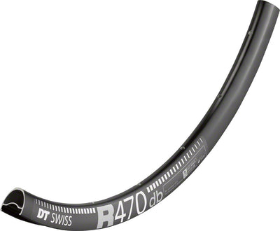 DT Swiss DT Swiss R 470 Rim - 700c Tubeless-Ready Road Disc: 24h, Black
