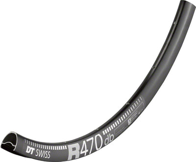 DT Swiss DT Swiss R 470 Rim - 700c Tubeless-Ready Road Disc: 32h, Black