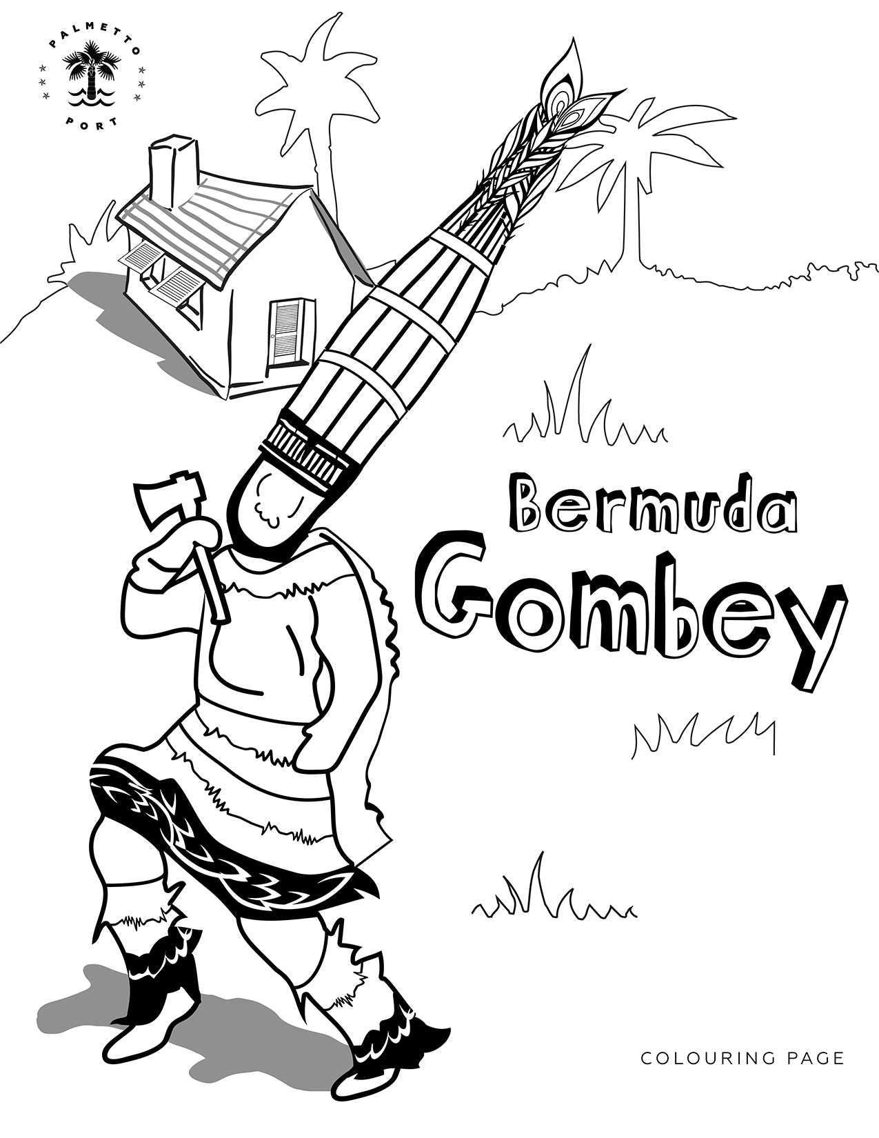 Bermuda Gombey Colouring Sheet
