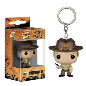 FUNKO POP! Chaveiro - The Walking Dead - Rick Grimes