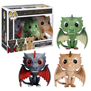 FUNKO POP! - Game of Thrones - Kit com 3 - Drogon - Rhaegal - Viserion