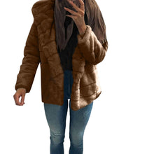 Load image into Gallery viewer, Women Mink Coats Winter Hooded New Faux Fur Jacket Warm Thick Outerwear Jacket