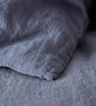 Linen bedset (grey blue)
