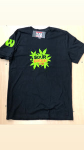 Plug Life Sour Patch Unisex T Shirt - Black/Neon Green
