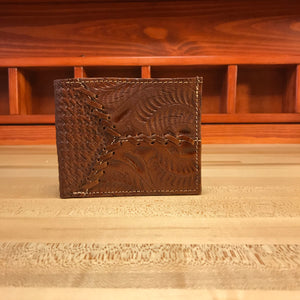 Antique Brown Leather Men's Bifold Wallet - American Leatherworks