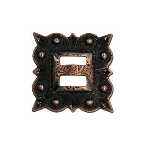 Slotted Square Berry Concho (Choose Size and Color at Checkout) - American Leatherworks