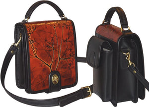 Black and Leaf Leather Organizer (Color Options) - American Leatherworks