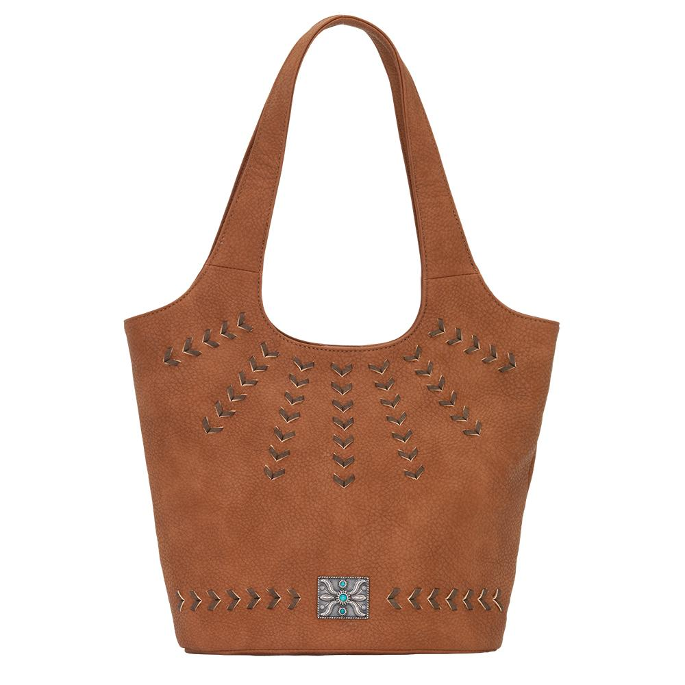 Sagebrush Soft Bucket Tote (Copper) - American Leatherworks