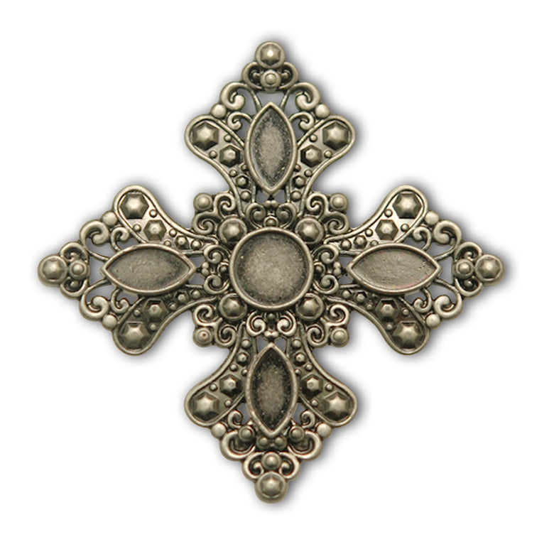 Royal Cross Concho with Screwpost (Choose Size and Color at Checkout) - American Leatherworks