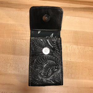 Black Leather Cell Phone Case - American Leatherworks
