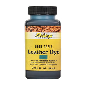 4 oz. Leather Dye (Aqua Green)