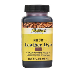 4 oz. Leather Dye-Maroon