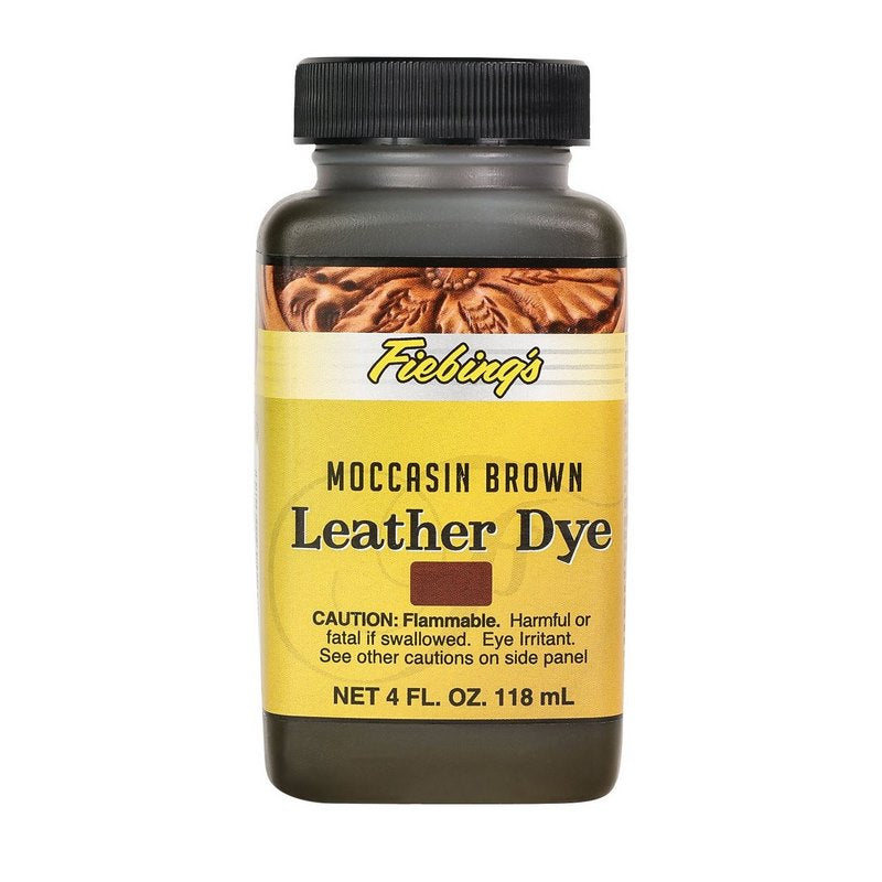 4 oz. Leather Dye-Moccasin Brown
