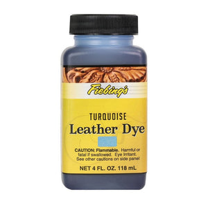 4 oz. Leather Dye-Turquoise